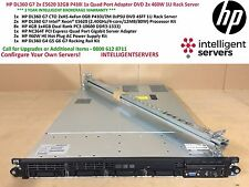 HP DL360 G7 2x E5620 32GB P410i 1x Quad Port Adapter DVD 2x 460W 1U Rack Server