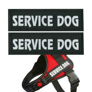 Reflective SERVICE DOG Patches,IN TRAINING,DO NOT PET, SUPPORT AU EMOTIONAL B4O3