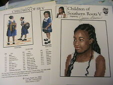 CHILDREN OF SOUTHERN ROOTS V~3 patterns~2002 *RARE & OOP~cross stitch graphs