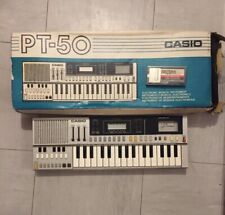 Casio PT-50 vintage keyboard , original box, Rom Pack RO-201,, from 1983