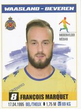 320 FRANCOIS MARQUET BELGIQUE KV.WAASLAND-BEVEREN STICKER PRO LEAGUE 2017 PANINI