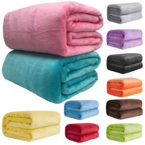 Baby Newborn Soft Fleece Infant Blanket Warm Pram Crib Moses Basket Cashmere US