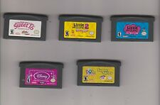 LOT 5 GameBoy Advance (mary-kate ashley/lizzie mcguire/princess/dora) girl Games