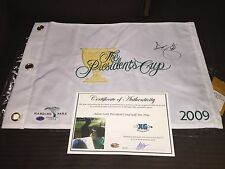 Adam Scott Signed Autographed Presidents Cup Golf Pin Flag-Exact Proof Coa Pga