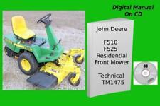 John Deere F510 F525 Residential Front Mower Technical Repair Manual Tm1475