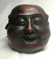 China collection life 4 emotions four faces of Buddha head statue
