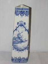 Vase bleu faience de Delft - Soliflore