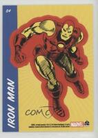 2010 Rittenhouse 70 Years of Marvel Comics Sticker Cards #S4 Iron Man Card 1x2
