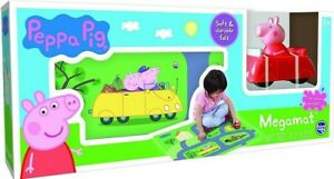 New In Box Peppa The Pig Megamat With Vehicle ages 3+