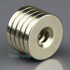 10pcs N50 Small Disc Magnets 20mm x 3mm Hole 5mm Round Rare Earth Neodymium