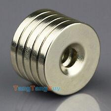 10pcs N50 Small Disc Magnets 20mm x 3mm Hole 5mm Round Rare Earth Neodymium