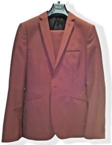 Kenneth Cole Burgundy Suit