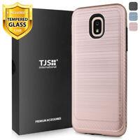 For Samsung Galaxy J7 Crown, Star, J7 V 2018, Case TJS Thunder +Tempered Glass