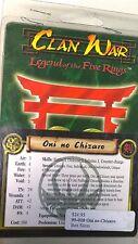 Wotc Aeg Clan War Earth Oni no Chizaro Legend of the five rings