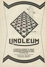 W0289 Pavimento LINOLEUM - Pubblicità 1927 - Advertising