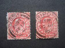 2 Grande-Bretagne Edward VII timbres