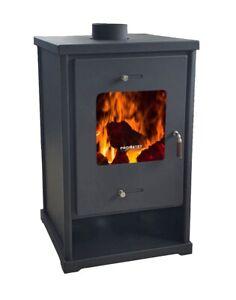 EEK A+ Kaminofen EKO 96175 Anthrazit Holzofen 10,2kW Dauerbrandofen Ofen