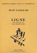 Partition pour violoncelle - Jean Langlais - Ligne
