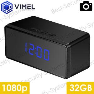 Home Security Indoor 32GB Alarm Digital Clock Surveillance Camera Evidence Proof