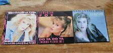 vinyl. Three Samantha Fox Single Records