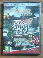 PC - Best of Casual Games (Tibor, Super Cow, Beetle Junior 3) neuf sous blister