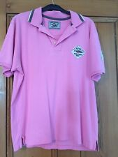 Homme Jezequel Polo Shirt Rose Grande Taille