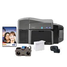 NEW ID Card Maker - Fargo DTC1250e Dual-Side ID Card Printer + Supplies