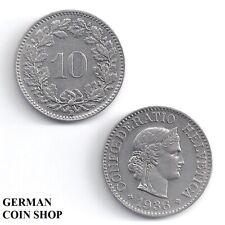 Schweiz 10 Rappen 1883 1897 1900 1901 1902 1903 1908 1911 1915 1934 Switzerland