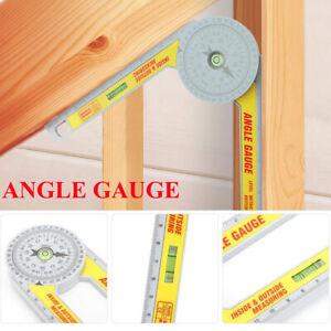 Pro Angle Finder Miter Saw Protractor Measuring Ruler Tool Goniometer Gauge UK