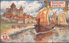 RUNCORN CASTLE SHIPS LIVERPOOL PAGEANT ENGLAND POSTCARD (c. 1907)