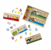 Melissa  Doug See  Spell Wooden Educational Toy With 8 Double-Sided Spelling
