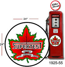 """(SUPE-1) 24"""" 1925-55 SUPERTEST DECAL FOR OIL CAN / GAS PUMP / LUBSTER"""