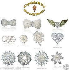 10 Wholesale Job Lot Vintage Bridal Brooch Crystal wedding flower gift clearance