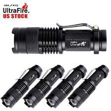 5pcs 6000Lumens LED Zoom Adjustable Focus Mini Torch 14500 AA Flashlight Lamp TL