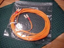 10M SC-SC Fiber Optic Duplex M/M Cable SC to SC NEW!