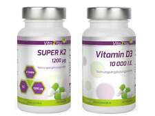Vita2You Super K2 - 1200µg - 120 Kapseln + Vitamin D3 - 10.000 I.E. 120 Kapseln