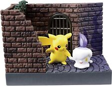 Re-ment Pokemon Town Night Street Figure, Pikachu & Litwick, Ship in Box