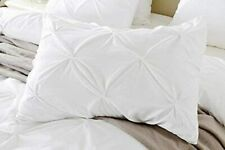 2 PC Pinch Pleated Pillow Shams US Size & Color 800 Thread Count Egyptian Cotton