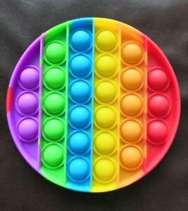 Rainbow Fidget Push pop Bubble Sensory Autism Special Needs Stress Reliever Toy