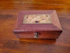 Small  musical hinged trinket box  (hand  made)