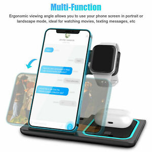3in1 Wireless Charging Station Charger Dock Pad for iphone12/Pro/Max/Watch Stand