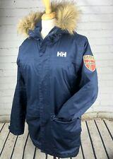 Helly Hansen Winter Coat Parka Women's Small Fur Hood Long Length Primaloft