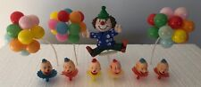 Lot Vintage Creepy Clown Heads Cake Toppers