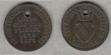Baden Friedrich I.Kreuzer 1871 Siegesfeier Karlsruhe gelocht stampsdealer