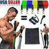11 Pcs Resistance Band Workout Pull Rope Outdoor Gym Yoga Fitness Exercise Bands