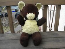 "Medium Brown Teddy Bear Approx 19"" W/ Working Windup Music Box Needs Cleaning"