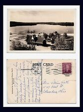 CANADA QUEBEC LAC DES LOUPS REAL PHOTO 15 JULY 1952 TO THE RATHS, COLUMBUS, OHIO