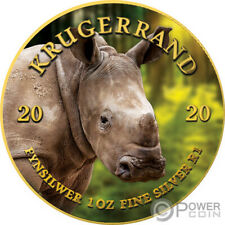 BABY RHINO Krugerrand Big Five 1 Oz Silver Coin 1 Rand South Africa 2020