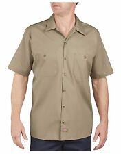 Dickies Mens Short Sleeve LS535 Khaki - (Regular Fit)   Size XL