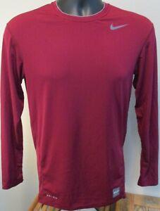Nike Pro Combat Dri-Fit Athletic Compression Stretch LS Shirt Size L Men's EUC